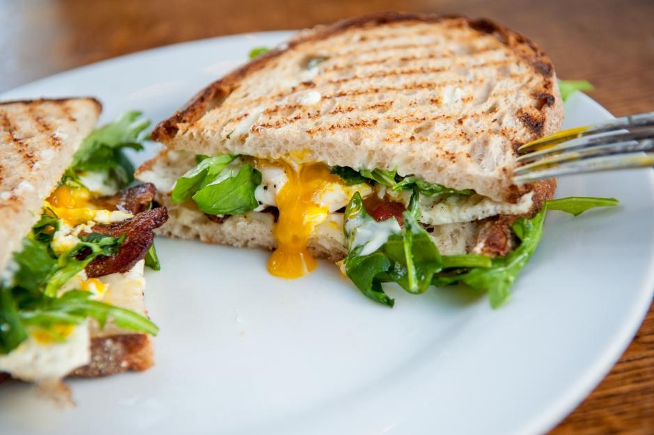 Huckleberry Fried Egg Sandwich