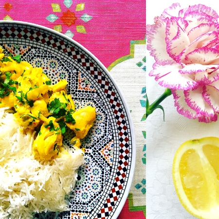 Persian Saffron-Lemon Chicken