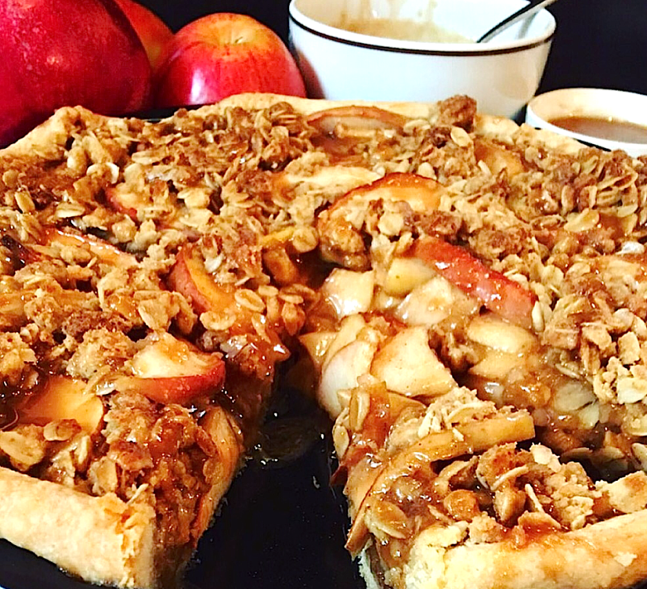 Apple Streusel Tart With Honey Crust Recipe — Dishmaps