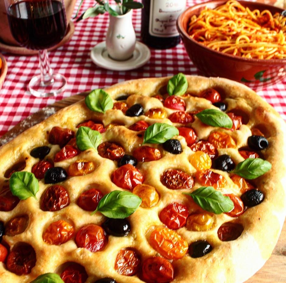 Tomato-Rosemary Foccacia