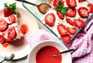 Strawberry-Coconut Tiramisu