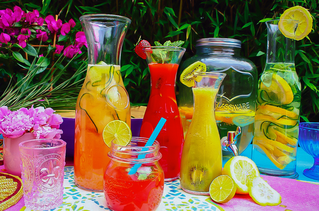 Infused Water with fresh fruits & herbs