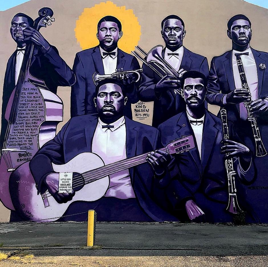 Buddy Bolden Mural (St. Rampart street)