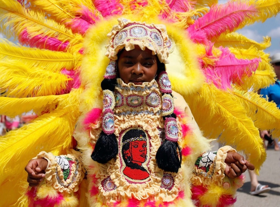 Mardi Gras Indian (Photo by Chris Graythen/Getty Images)