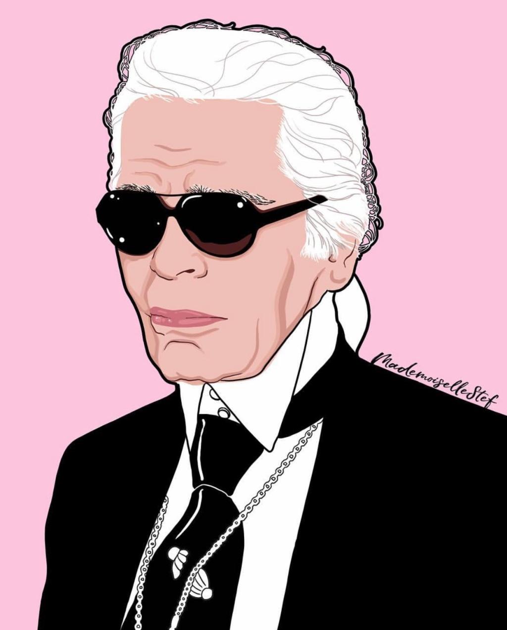 Karl Lagerfeld by mademoisellestef