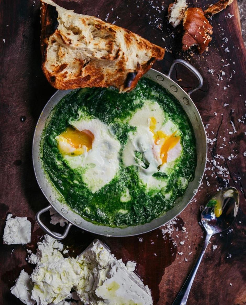 Green Shakshuka from NENI Cookbook TEL AVIV