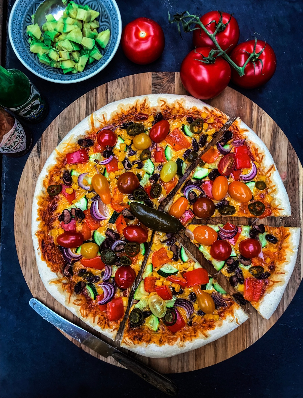 Mexican-Style Veggie Pizza